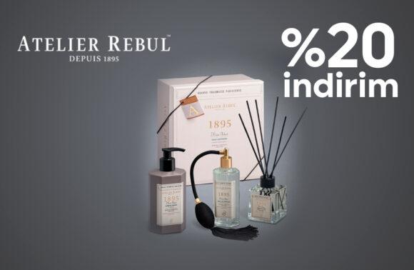 Atelier Rebul %20 indirim Kuponu