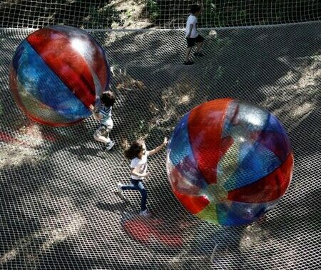 Xtrem Aventures Istanbul 4-8 Yaş Ağ Parkuru Girişi