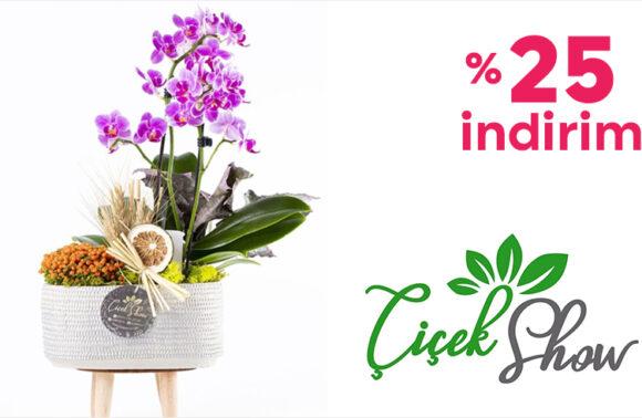 Çiçek Show %25 İndirim Kuponu